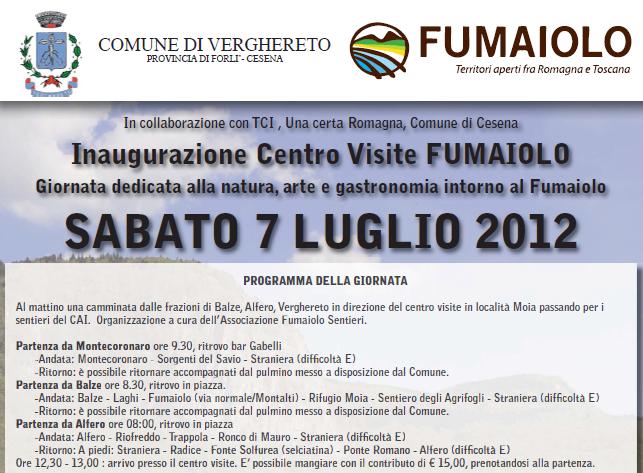 Inaugurazione Centro Visite FUMAIOLO