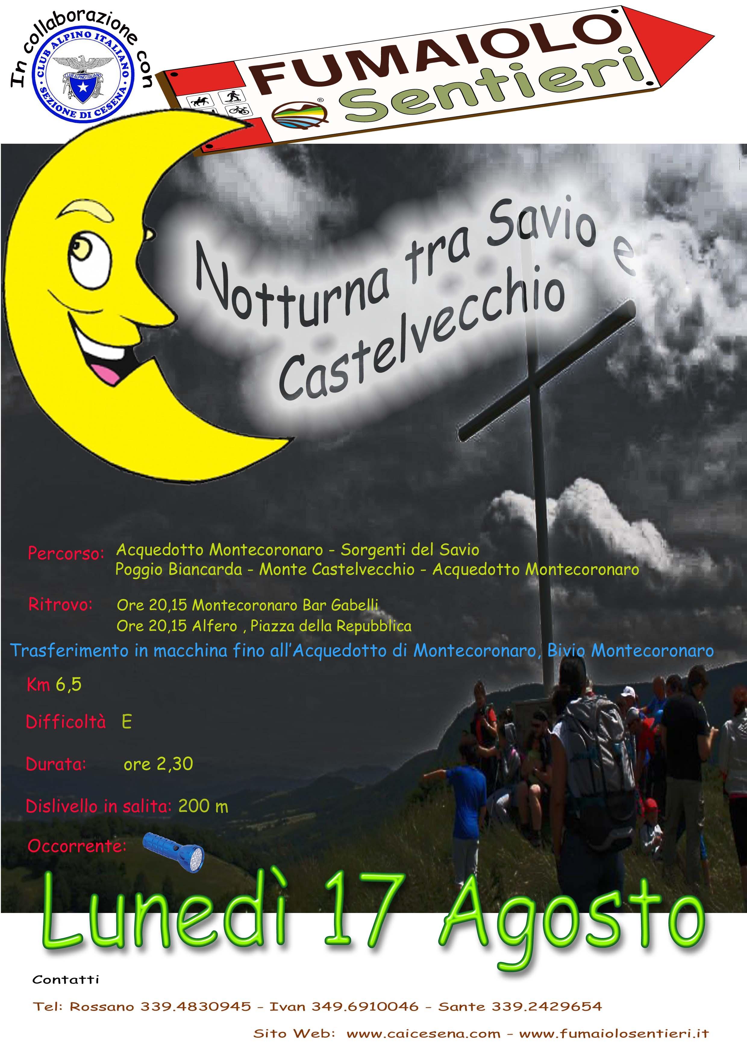 Notturna tra Savio e Castelvecchio