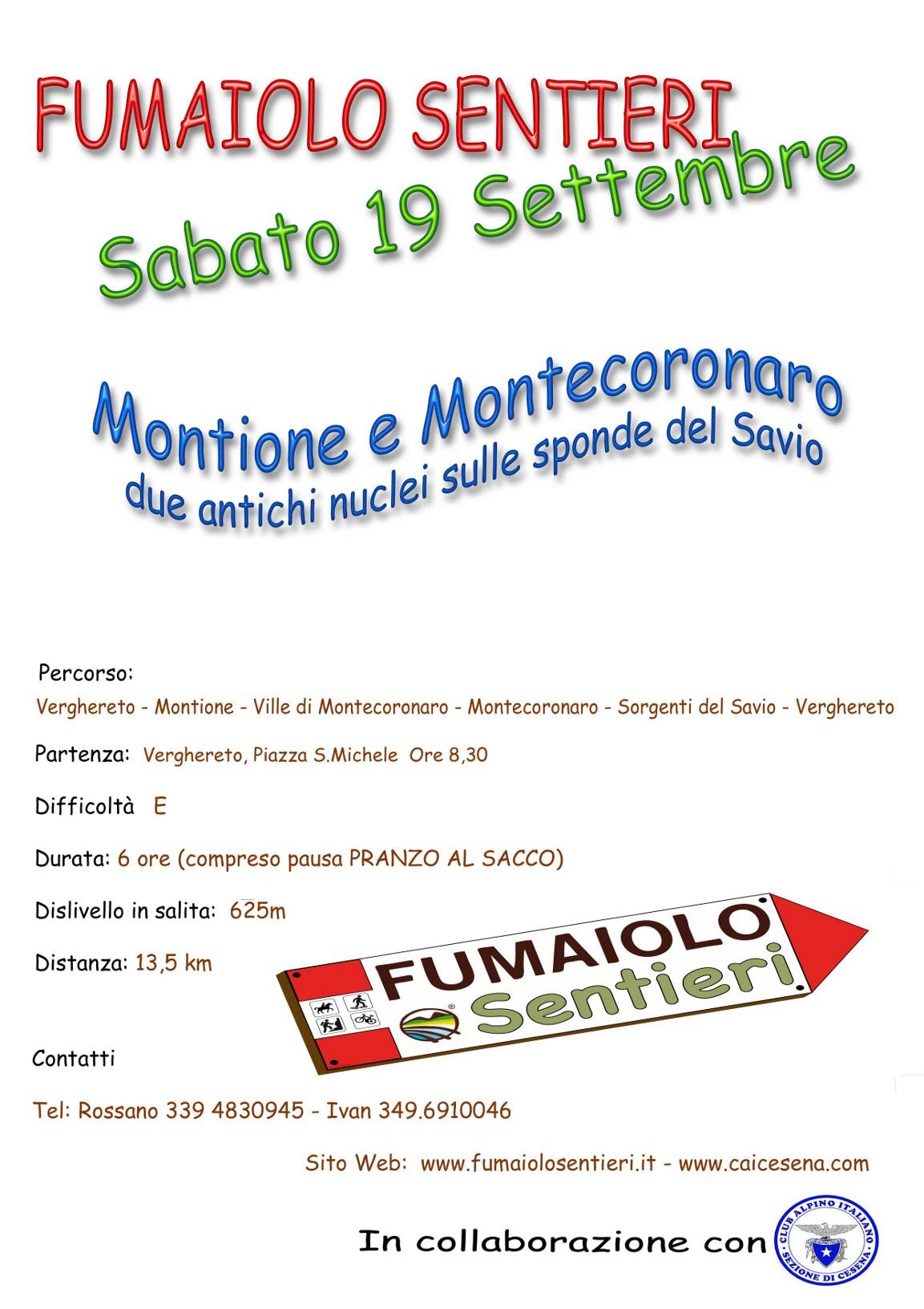 Montione e Montecoronaro – 19/09/2015