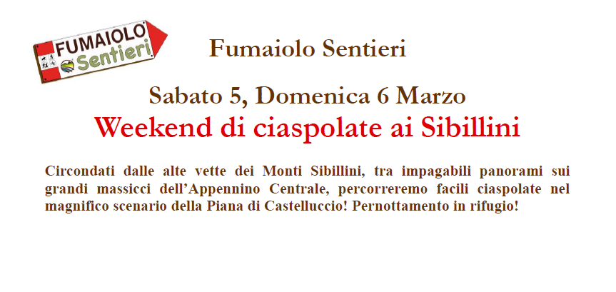 Weekend di Ciaspolate ai Sibillini