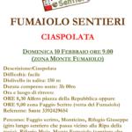 Comunicazione IMPORTANTE Ciaspolate Weekend del 09/10 febbraio 2019